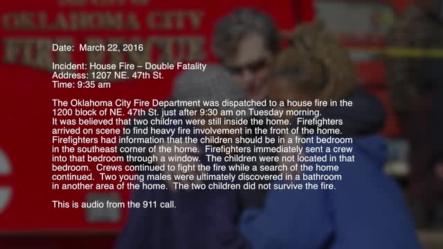 Fatal house fire: Audio of 911 call