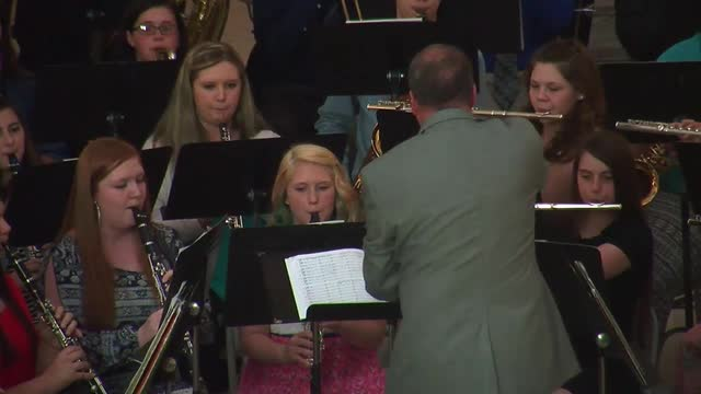 'Big Blue Band' performs at state Capitol