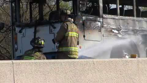 Fatal accident happens while traffic backed up for bus fire