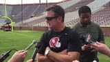 Oklahoma coach Bob Stoops after the Sooners' Tuesday practice