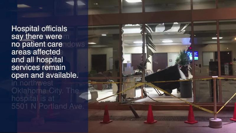 Pickup hits Alliance Health Deaconess in northwest Oklahoma City