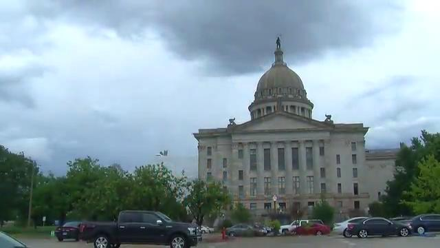 Heavy rain causes flooding at the Capitol
