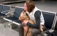 USAF Captain Reunited with Her Dog