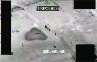 UAV Predator Engages Insurgents