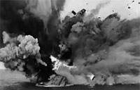 HMS Barham Explodes and Sinks