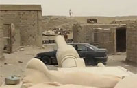 M1A1 Crushes Car in Iraq