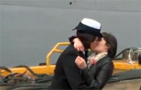 Military First: Same-Sex Couple Kisses