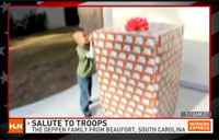 Son Unwraps Marine for Christmas