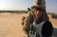 US Sniper Shoots at Taliban