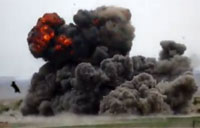 2000lb Bomb Slams Into Taliban