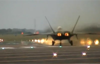 F-22 Raptor Takeoff + Vertical Climb