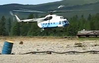 Russian MI-8 Crashes While Landing