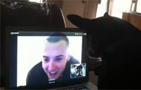 Soldier Skypes with Scout