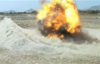 Large IED Detonation at Close Range