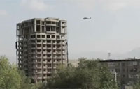 Choppers Engage Taliban on Building