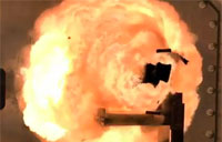 BAE Electromagnetic Railgun Test