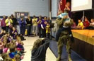 Soldier Surprises Son at Assembly