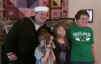 Sailor 'Photobombs' Grandma