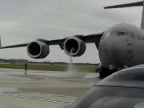 Crazy C-17 Compressor Stall  C 17 Crash