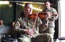 Soldier Plays 'Ashokan Farewell'