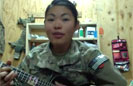 Cute Soldier Covers Gaga on Ukulele