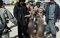 US Troops Pose with Taliban Bodies