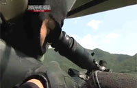 South Korean Sniper Hits Targets from Helo