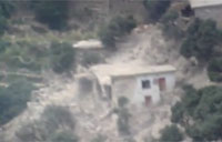 Bomb Drop On Taliban Compound
