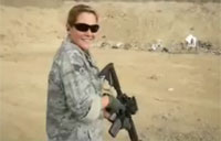 Airman Fires Her M4 in Afghanistan