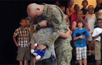 Soldier Surprises His 4th Grade Son