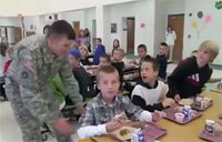 Soldier Surprises Son at Elementary