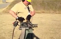 Firing a Minigun from the Hip