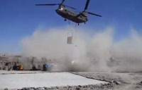 Chinook Sling Load Dust Storm!
