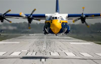 Blue Angels Fat Albert Head-on Takeoff!