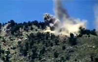 Heavy Artillery Strike on Taliban Position
