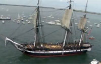 USS Constitution Sets Sail in Boston!