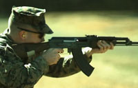 Marines Fire AK-47 in Slow Motion