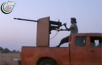 Syrian Choppers Hit by Heavy Machine Gun