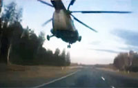 Russian Helo Pilot Buzzes Commuters