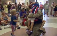 Soldier Surprises His Family at Epcot!