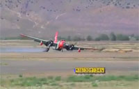 P-2V Tanker Does Belly-Flop Landing!