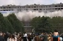 People Flee After Building Demolition