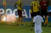 Hand Grenade Explodes on Soccer Field