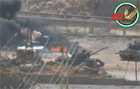 Rebels Destroy Syrian Army Checkpoint