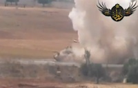 Double IED Attack on Syrian Tank