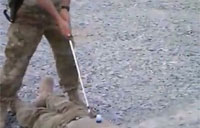 Improvised Golf Tee in Afganistan