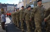 300 Bomb Disposal Soldiers on Parade