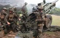 Marines Bang Out Artillery Training