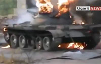 Rebels Film Defeated Syrian Tank