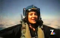 Ex-Pilot Gone Reporter Rides with Angels
